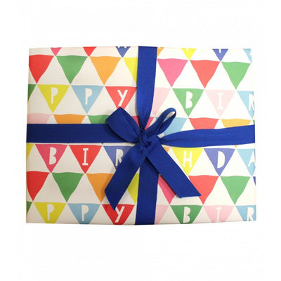 Happy Birthday Wrapping Paper by Toby Tiger - Little Marshans