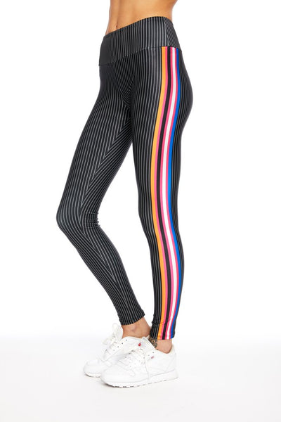 Atlas Stripes Legging - 444 Evergreen