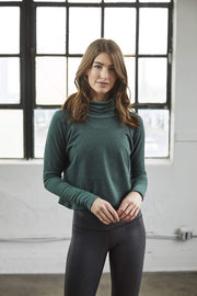 Crop Turtleneck - 444 Evergreen