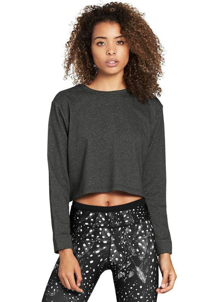 Cropped Crew - Charcoal - 444 Evergreen