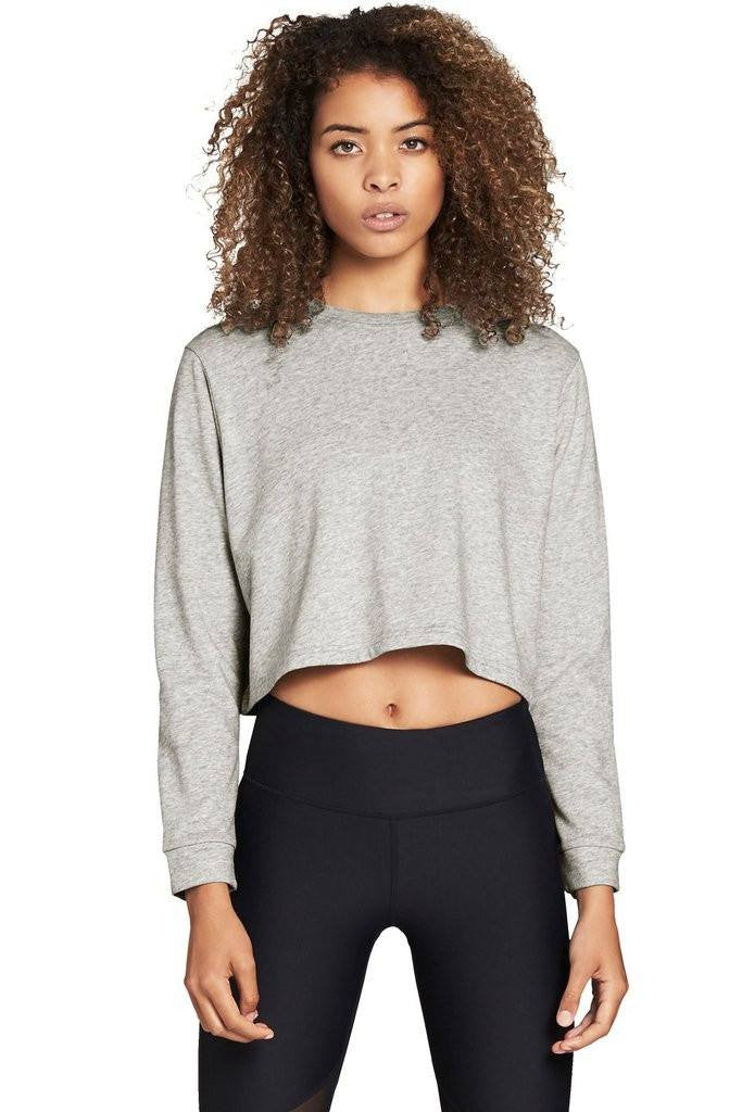 Cropped Crew - Light Grey - 444 Evergreen