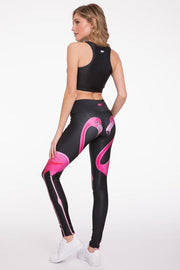 Double Flamingo Legging - 444 Evergreen
