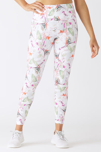 Printed High Power Legging - 444 Evergreen