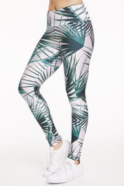 Hamptons Palms Leggings - 444 Evergreen