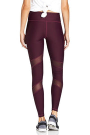 Plum Moto Mesh Legging - 444 Evergreen