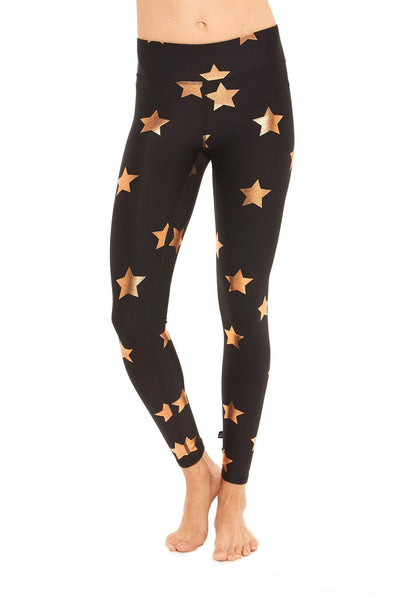 Rose Gold Foil Star Legging - 444 Evergreen