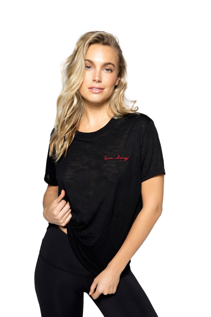 Love Always Script Tee - 444 Evergreen