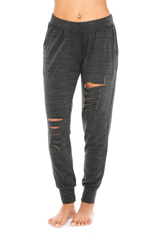 Slash Leg Jogger - 444 Evergreen