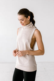 Sleeveless Knit Turtleneck - 444 Evergreen