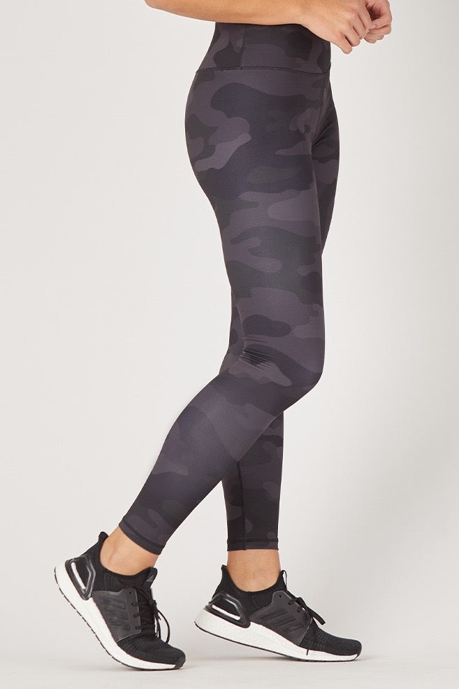 Sultry Legging - Camo Print - 444 Evergreen