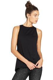 Tie Up Gather Tank - Black - 444 Evergreen