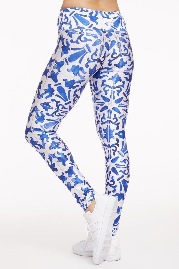 Tile Mosaic Leggings - 444 Evergreen