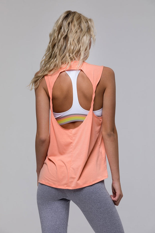 Twist Back Tank - 444 Evergreen