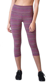 Striped High Power Crop - 444 Evergreen