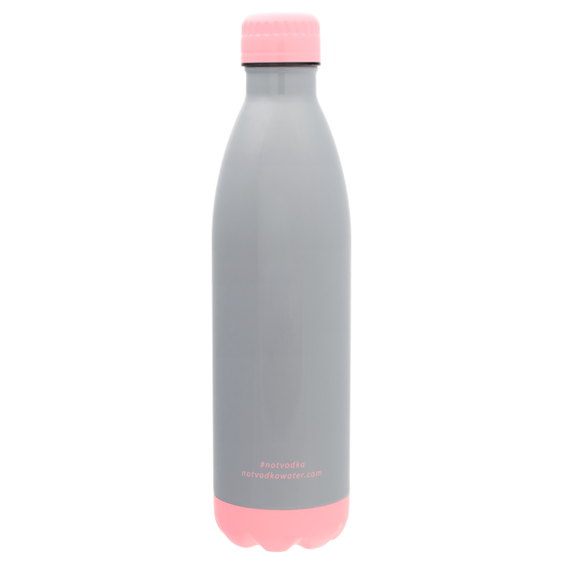 Bullet Bottle in Glossy Grey and Pink - 444 Evergreen