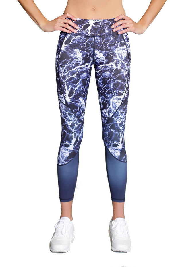 Marble Riley 7/8 Legging - 444 Evergreen