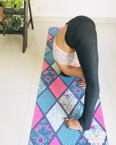 Forward Fold On Kosha Yoga Co_Yoga Mat_Yoga for Crossfit