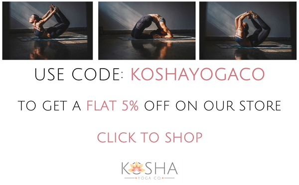 Kosha Yoga Co. Yoga Mats Rubber Anti Slip Microfibre Towel