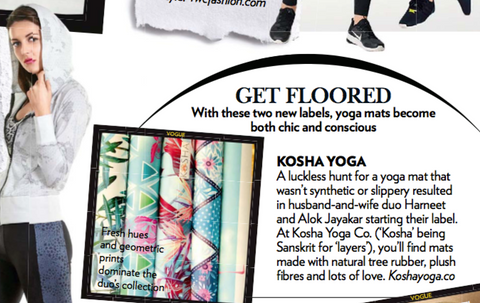 Kosha Yoga Co. Vogue India Feature