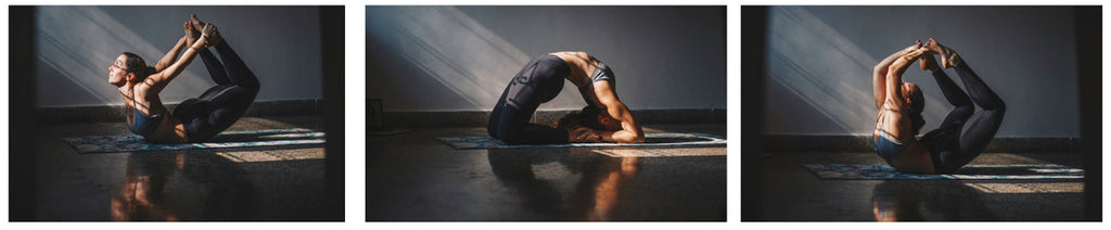 Yoga Practice on Kosha Yoga Co Foliage Mat Sonia Frydrych
