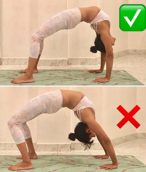 Urdhva Dhanurasana on Kosha Yoga co Yoga Mat