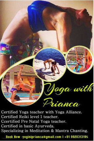 prianca sharma kosha yoga co. teacher instructor mats blocks india contact