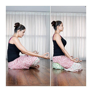 Namita on Kosha Yoga Co. meditation Cushion