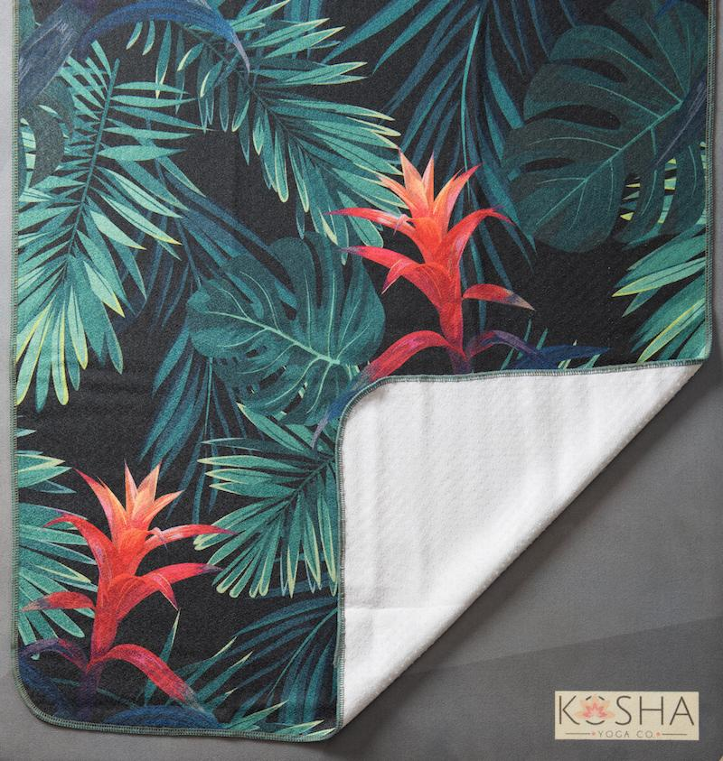 Kosha Yoga Co Transform Microfibre Silicone Towel Sweat Absorbent Forest