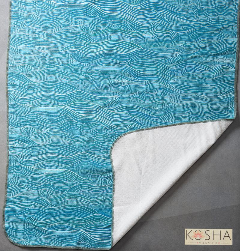 Kosha Yoga Co Transform Microfibre Silicone Towel Sweat Absorbent Ocean