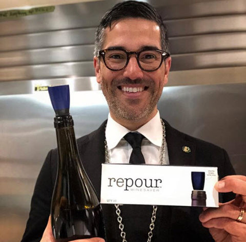 A.J. Ojeda-Pons, Wine Director and Sommelier for Repour Wine Saver