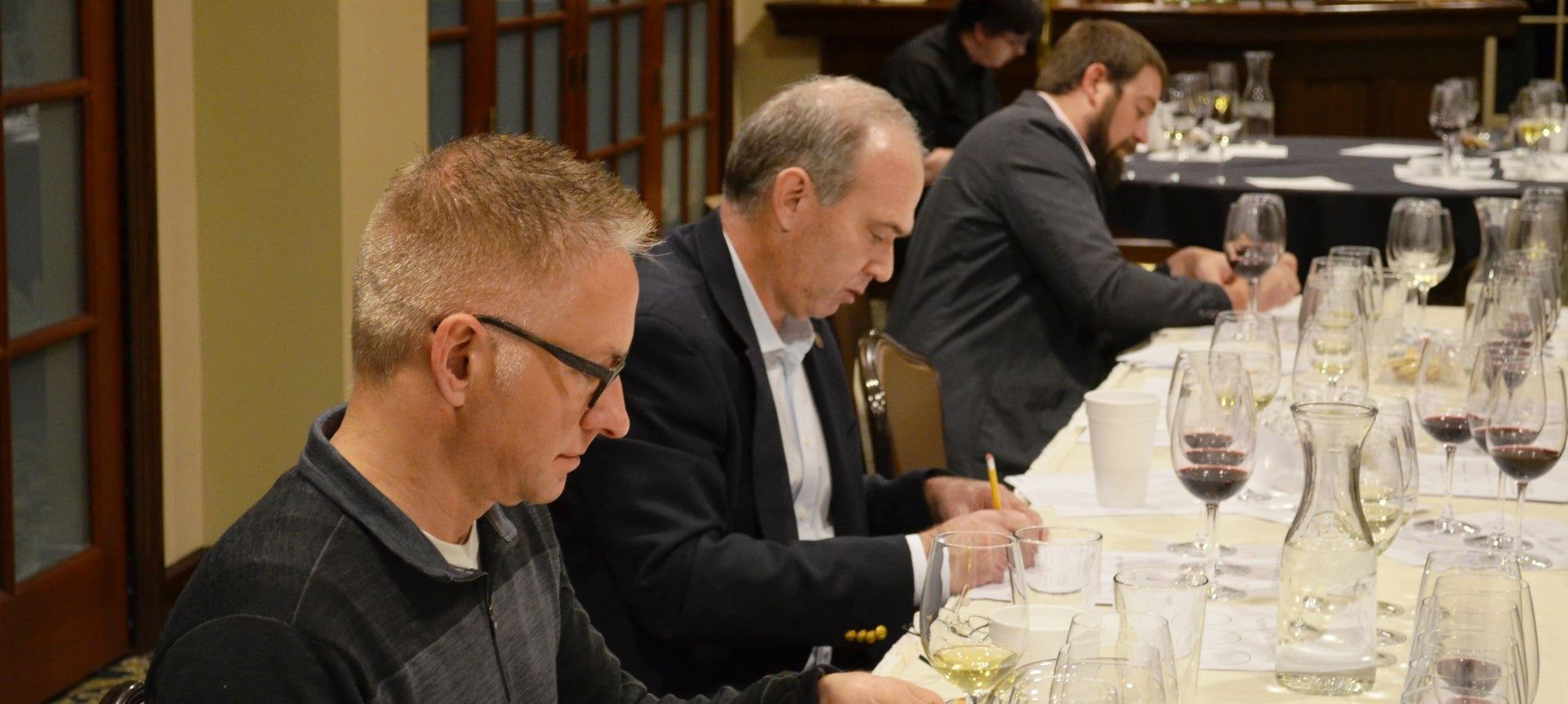 Sommeliers blind taste testing Repour