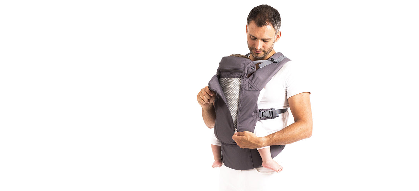 Beco 8 - 8-in-1 baby carrier. All-seasons all-positions. Includes infant insert, built-in headrest, sleep hood, waist belt pocket, removable lumbar support, and a zippered panel to reveal our signature 3D mesh for a breathable comfort.