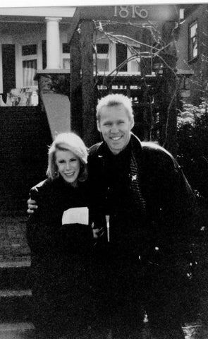 On set with Joan Rivers. Vancouver, March 1994.