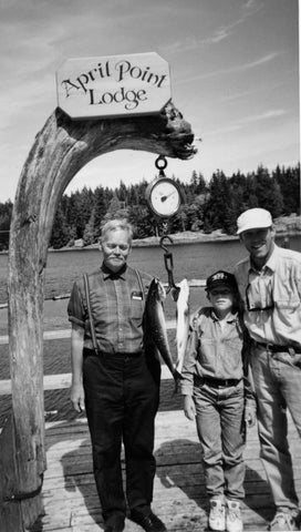 Three generations. April Point Lodge - First Catch. Campbell River. June 1996.