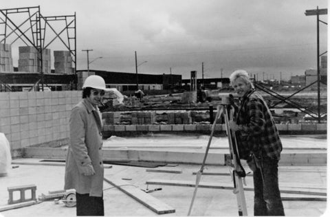 With Carl Yanchar, Lakeside Associates - building Thunder Road. Looking towards what would be the isolation room, used to record strings and orchestral performances. Calgary 1981.