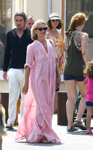 Kate Moss wearing a caftan