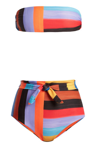 Jay high-waist striped bikini