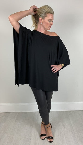 lilly top. black loose fitting top