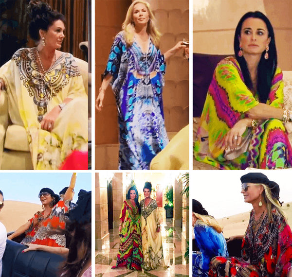 Real Housewives of Beverly Hills wearing caftans