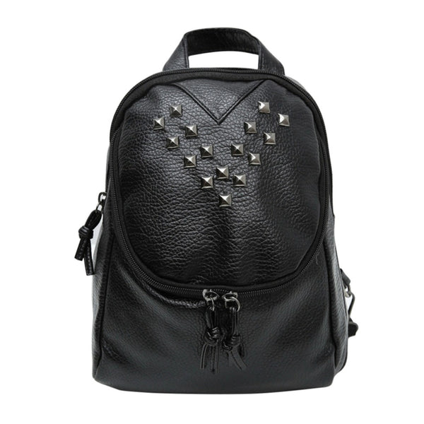 Fashion Soft Leather Rivet Backpacks for Women