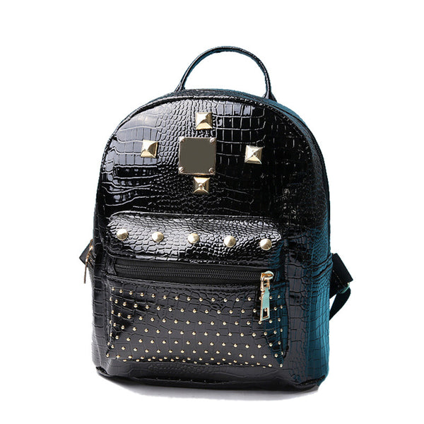 Mini Rivets Backpack For Women