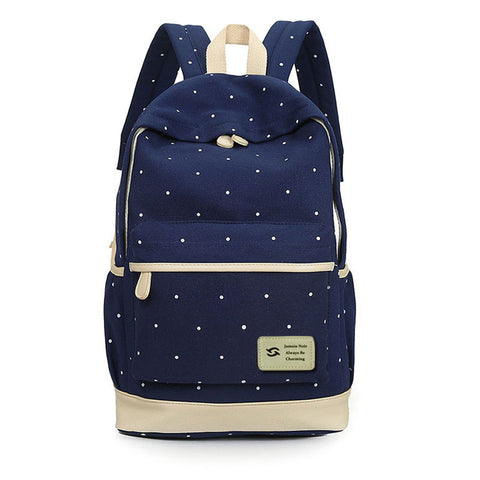 Fresh Canvas Women Backpack - 3pcs/set