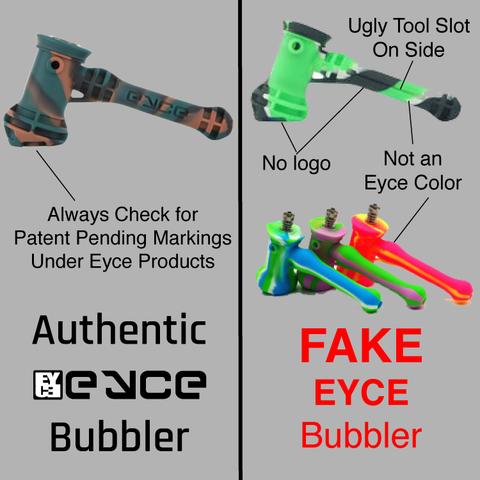 Eyce Molds, Bubbler, fake, comparison, counterfeit, knockoff
