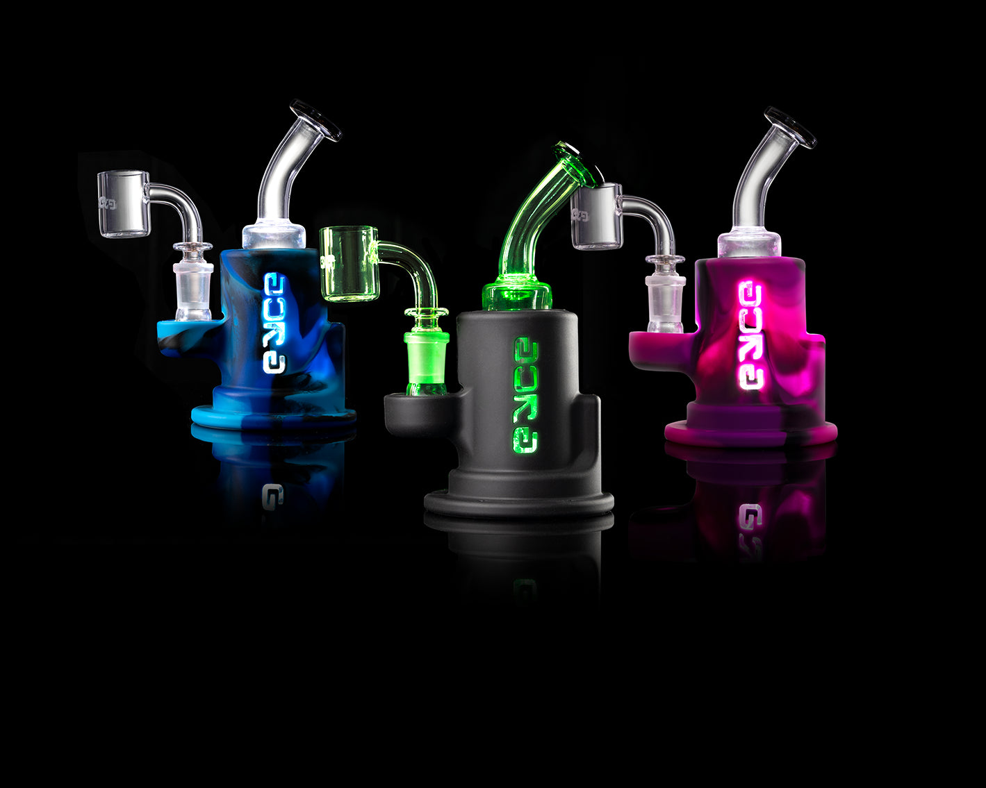 Proteck Series - Eyce Spark - Silicone Covered Glass Rig