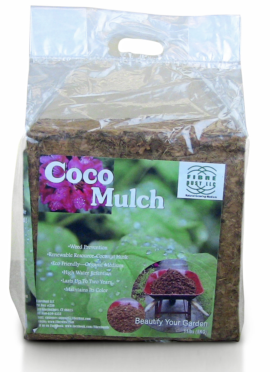 Natural Coco Mulch - Top Quality - 100% Organic