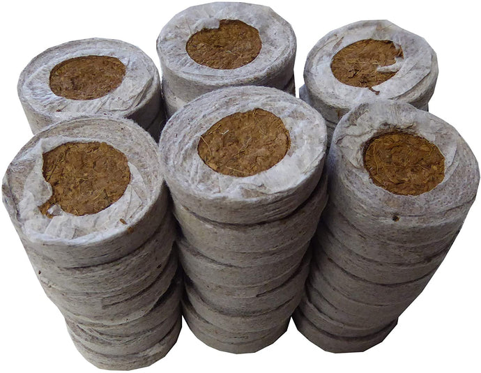 Coco Coir Seed Starter - 35mm (60 Count) - Transplant Soil Discs