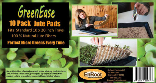 GreenEase 10 Pack Jute Micro Green Seed Pads
