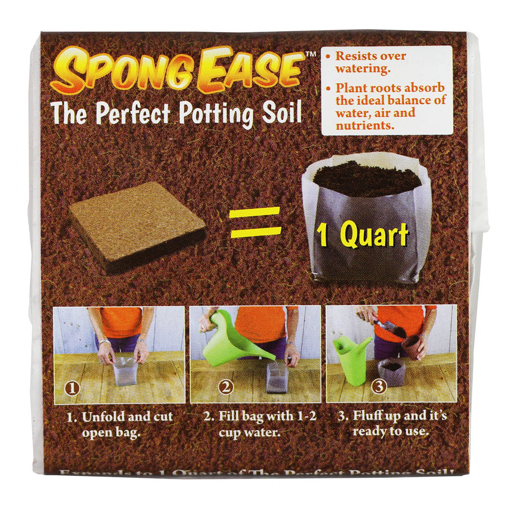 Potting Soil 1 QT Compressed Coconut Coir for seedlings, cuttings, Vegetables, Berries, Roses. Supplies Oxygen, Water and Your Added Fertilizer for Healthy Plants - Made from Coconut husks
