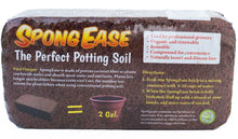 SPONGEASE Coco Coir Brick, Makes 2 gals Potting Soil for seedlings, Rooting, Vegetables, Berries, Roses, Orchids, House Plants, hydroponics, Worm Farms, Animal Bedding