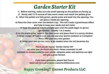 Garden Starter Kit - DIY Seedling Starter for Tomatoes, Peppers, Cucumber Planting